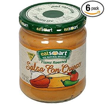 Snyders of Hanover EatSmart Salsa Con Queso, Flame Roasted, 16-Ounce Jars (