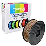 TIANSE Wood 3D Printer Filament 1.75mm 1KG Spool Filament for 3D Printing, Dimensional Accuracy +/- 0.03 mm