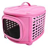 Iconic Pet Deluxe Retreat Foldable Pet House, Pink