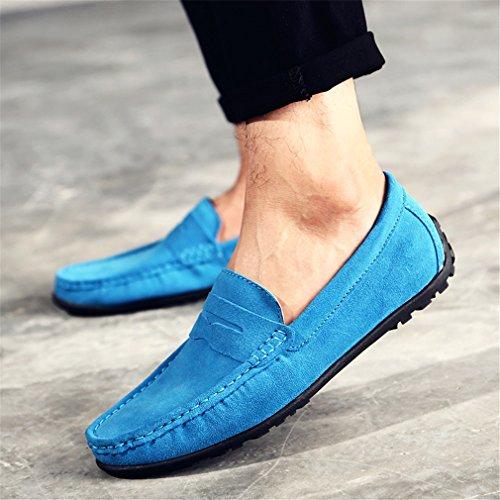 genuino Blue Zapatos de de hombre mocasines cuero ante zapatos deslizamiento los de ocasionales Gommino de de Zapatos Sky los de en los cuero conducción Mocasines hombres de Bridfa hombres de 4CqawxZ4