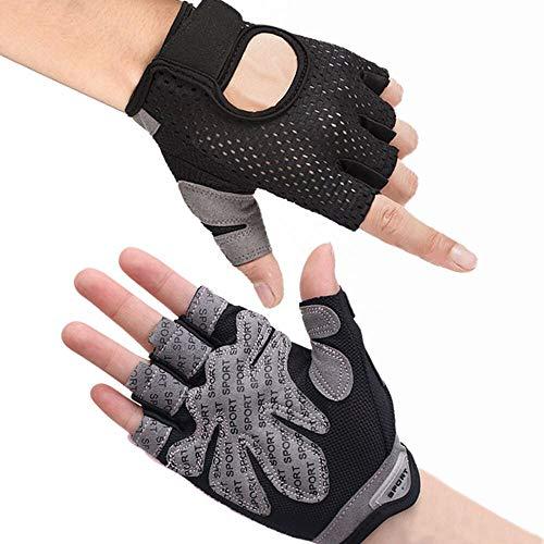 Hually Fitness Handschoenen, Trainings Handschoenen, Antislip Handschoenen Voor Gewichtheffen, Extra Licht en Ademend…