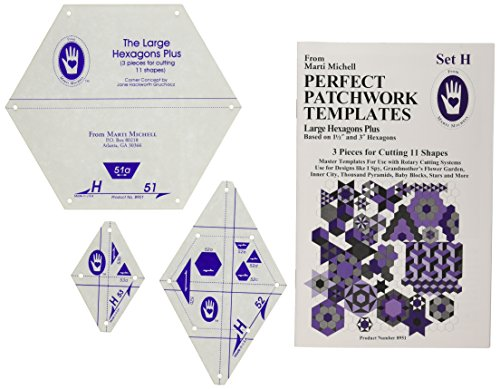 Marti Michell Perfect Patchwork Templates, Large Hexagons by Perfect Patchwork
