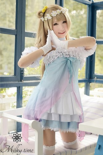 [milky Time] Wig With ?love Live! Perruque [temps Laiteuse] Avec? Amour En Direct! Minami Birds Μ's Muse Yumenotobira-style School Idol Ploject Fancy Dress Cosplay Costume Costume Anime Minami Oiseaux Μ Muse De Yumenotobira Style Idole De L'école Ploject Costumée Anime Costume Cosplay Costume