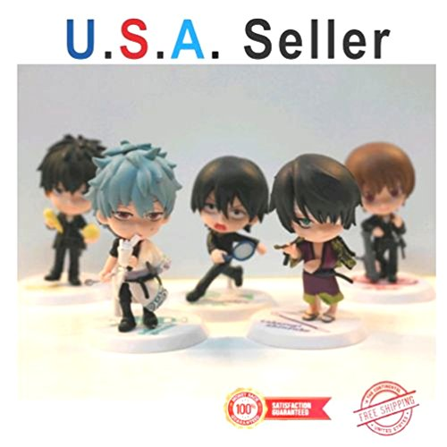 US Seller New 5 pcs Japanese Anime Gintama figure Set Special Design Limited Quantity