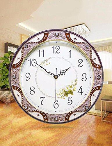 SUNQIAN-Creative garden wood wall clock, large Vintage American quartz clock clock Taiwan,A by SUNQIAN