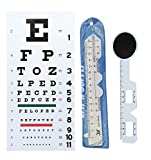 EFK-II Supply Rosenbaum and Snellen Plastic Pocket Size Eye Chart Set (Snellen Pocket Eye Chart + 2 pd rulers)