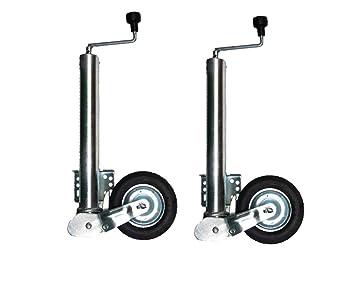 Rueda de apoyo para remolque (rueda automática, 60 mm, soporta 400 kg): Amazon.es: Coche y moto