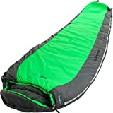 ErgaLogik Fahrenheit 30 (0 Celsius) Large Mummy Sleeping Bag w/ Stuff Sack Included – 6 Feet 8 Inches Long – Great for Camping, Hiking, Trekking (Green) For Sale