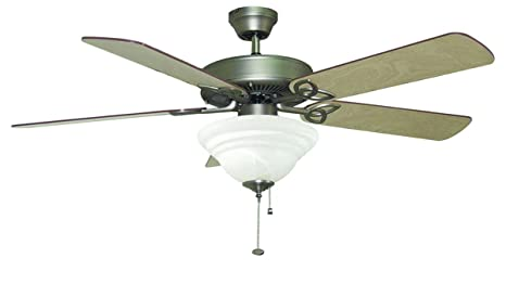 Bala 104827 Quick Connect Ceiling Fan with Light, 52-Inch, Nickel on