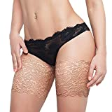 LONGTEN Thigh Bands Womens Anti Chafing Sexy Lace Thigh Elastic Work Out Compression Sleeve