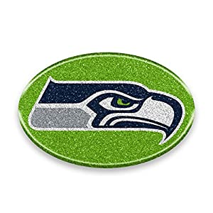 "NFL Seattle Seahawks Color Bling Emblem, 4"" x 4"", Teal"