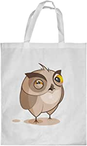 Printed Shopping bag, Large Size, Cartoon Drawings - Owl