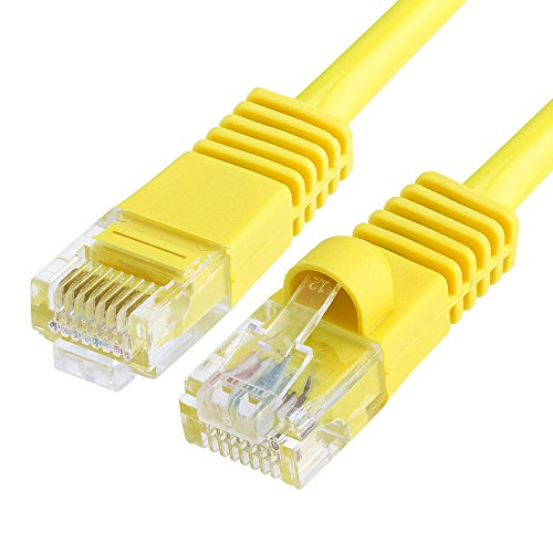 Cmple - Cat5e Ethernet Network Patch Cable 350 MHz RJ45 – 50 Feet Yellow