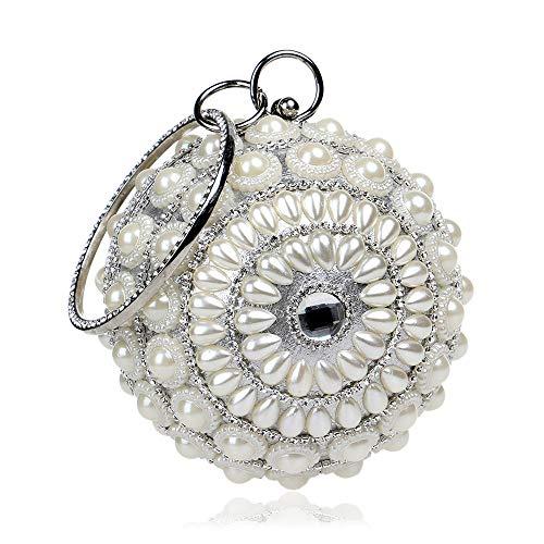 de Femmes en Sumferkyh pour Mariage Sac Perles de à à rocaille Argent pour de Pochette Golden Perles soirée Soirée Couleur Main ZYZFfqw