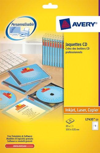 AVERY L7435-25 25 - Kit para personalizar cajas de CD (151 x ...