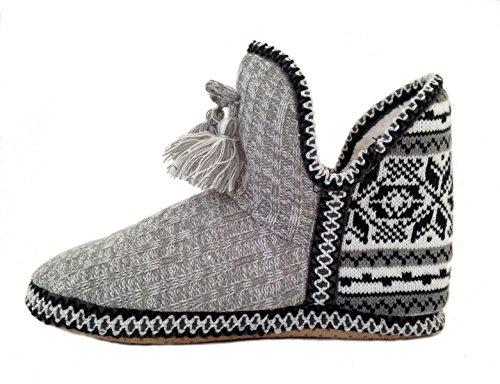 Do Gray Sweater Slipper Fair Booties Women's Everything Love Knit Isle in 14qaBrw1