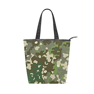 5777d470bdcb Amazon.com  Camouflage Canvas Tote Handle Bag Tote bags Shopping Bag ...