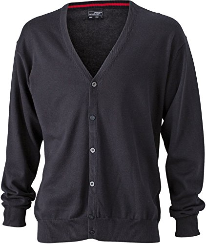 Cardigan V Neck Black Men's Neck with Men's Cardigan V gRBqEAx