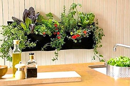 muebles bonitos - Jardinera Colgante de 1 Bolsa Grande