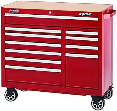 Waterloo WATWCA-4111RD Red Rolling Cabinet Width 41 , Depth 18 , Height 40-3 4 Non-Carb Compliant