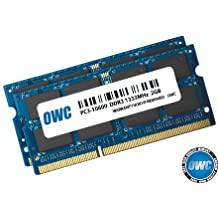 "OWC 4GB ( 2x2GB ) PC3-10600 DDR3 1333MHz SODIMM 204 Pin Memory Upgrade Kit For early 2011 MacBook Pro models and Mid 2010 21.5"" & 27"" iMac Models, Mid 2011 Mac mini models Model OWC1333DDR3S04S"