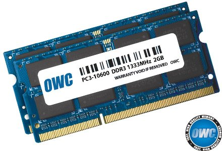 OWC 4.0GB (2 x 2GB) 1333MHz 204-Pin DDR3 SO-DIMM PC3-10600 CL9 Memory Upgrade Kit