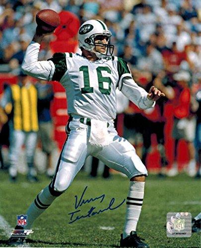 Signed Vinny Testaverde Picture - 8x10 13521 - Autographed NFL Photos