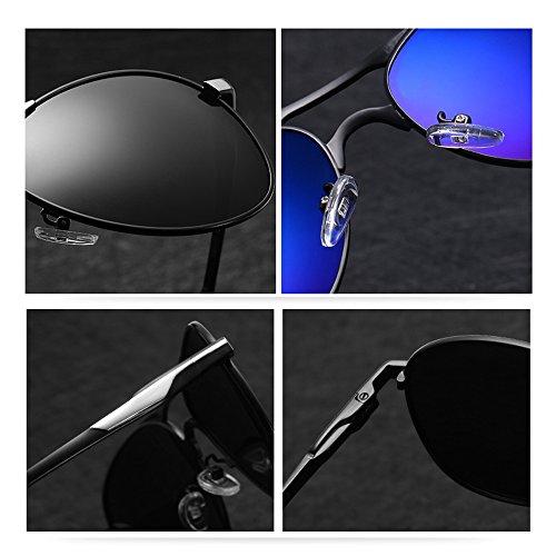 Lunettes TESITE De Protection UV PolariséEs Soleil De 100 Lunettes Hommes Noir Lunettes Zq1zqTd