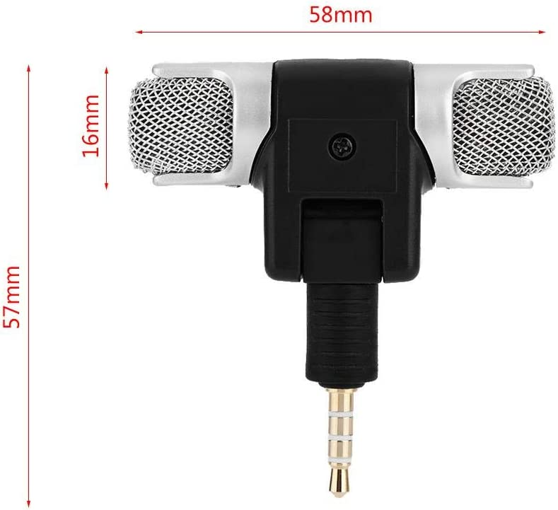 Gold-Plated Plug Lightweight No Need Battery Better Directivity for Use with Digital Media Such As Md and Dat Taidda Mini Stereo Microphone for Phone