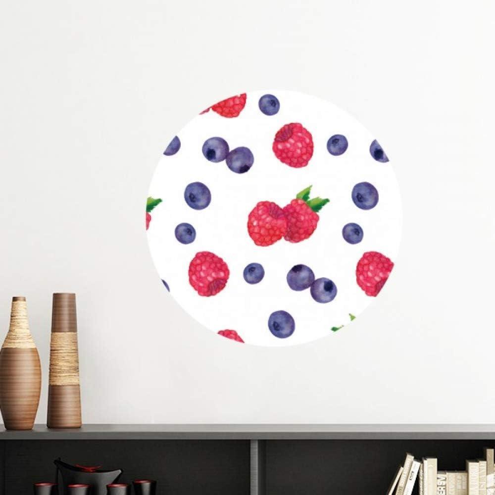 DIYthinker Blueberry Strawberry Fruit Illustration Pattern Vinyl Wall Decoration Sticker Poster Wallpaper Decal Self Adhesive