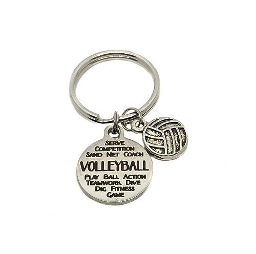 Voleibol Graffiti encanto, llavero, bolsa de deporte encanto ...