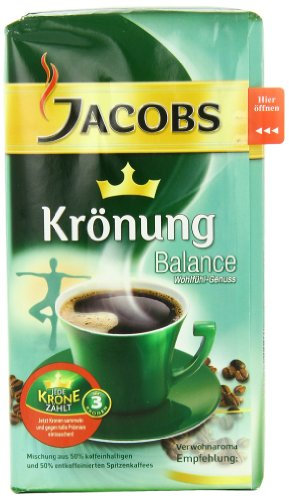 Jacobs Coffee Kronung Balance, Net Wt 17.6 Oz (Pack of 3)