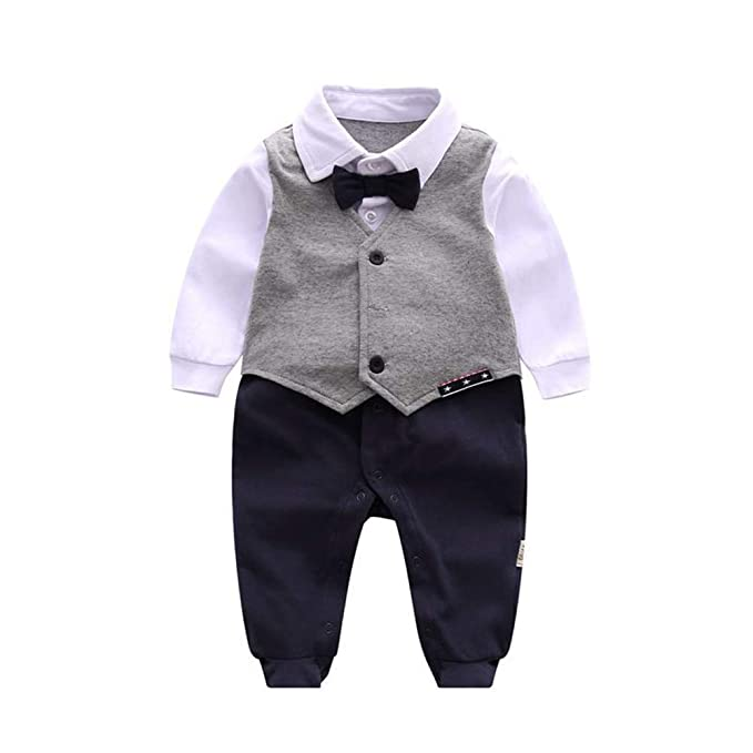 Amazon.com: Fairy Baby Newborn Baby Boy Gentleman Outfit ...