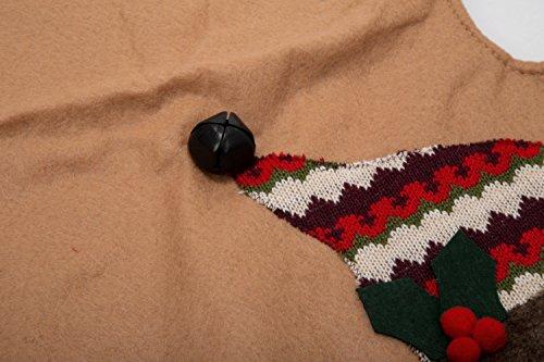 iPEGTOP 42'' Christmas Tree Skirt - Santa Xmas Tree Skirt Holiday Decoration Ornaments Camel Non-woven & Tartan Border by iPEGTOP (Image #2)