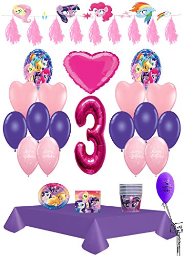 My Little Pony 3rd Birthday Ultimate Party Pack 61pc.