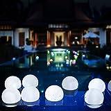 AGPTEK Flashing LED Ball Light, Cool White Floating Waterproof Mood Light for Garden Decoration/Pool/Pond/Party (Pack of 10)