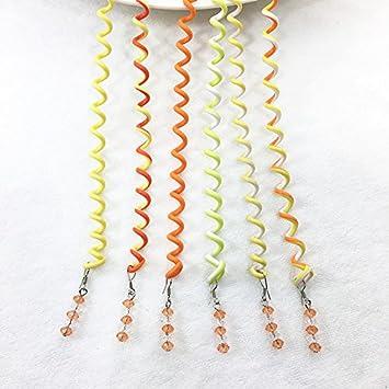 6 Rizadores Spiralen Orangen Für Haar Mit Strasssteinen Stylischem