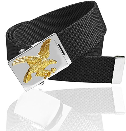 Luna Sosano Canvas Web Belt - Eagle - Black - 45