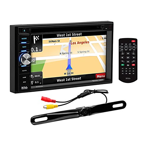 BOSS Audio Systems BN965BLC Car GPS Navigation and DVD Player - Double Din, Bluetooth Audio and Calling, 6.5 Inch LCD Touchscreen Monitor, MP3 CD DVD USB SD, Aux-in, AM FM Radio Receiver by BOSS Audio Systems