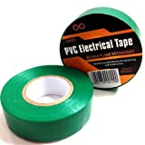 2 x GREEN ELECTRICAL PVC INSULATION / INSULATING TAPE 19mm x 20m - FLAME RETARDANT by Falcon workshops