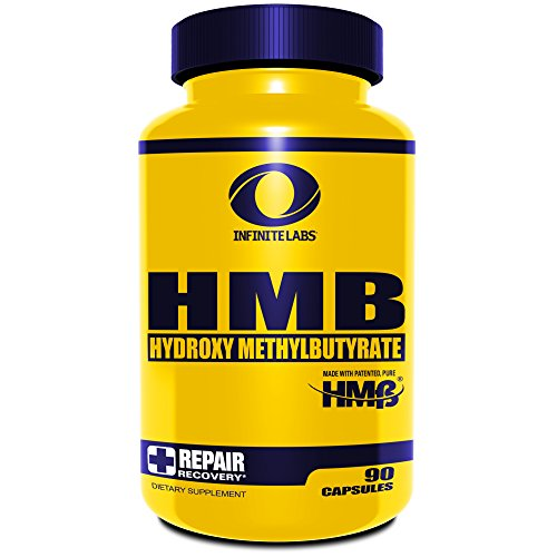Infinite Labs HMB Supplement 90 Capsules + Beta-Hydroxy + Beta-Methylbutyrate (Strength Training Supplement) Post-Workout & Recovery