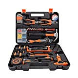 Renogy 46 Pieces Tool Set for Man General Household Hand Combination Package Mixed Auto Repair Tools with Strength Plastic Tool Box Storage Case