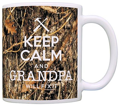 Woodland Camo Keep Grandpa Coffee