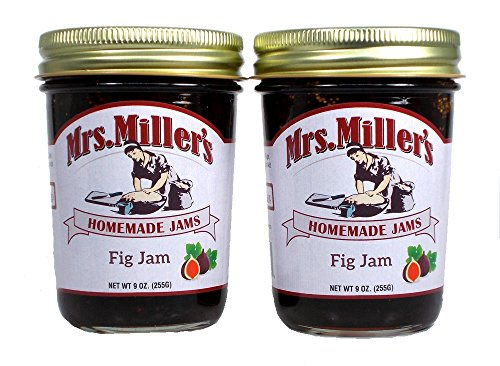 Mrs Millers Fig Jam (Amish Made) ~ 2 / 9 Oz. (Fig Preserves)