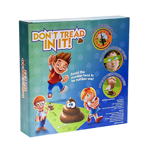 CMrtew Don't Tread in It Funny Poo Game Family Kill Time Board Game Parent-Child Game Takes Skill Toy for Your Kid Play, Relax