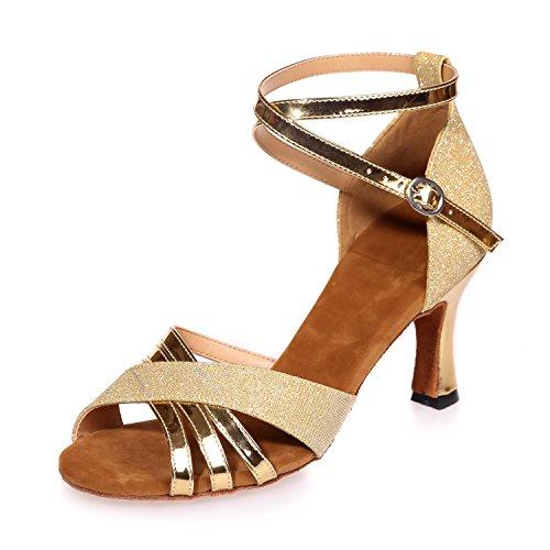 Chaussures Multicolore Femmes Latin yc Danse Avec Brun Bleu Noir L Personnalisable Gold Rouge Soie tvqHww
