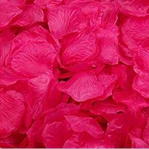 Magik 1000~5000 Pcs Silk Flower Rose Petals Wedding Party Pasty Tabel Decorations, Various Choices (1000, Hot Pink) 39