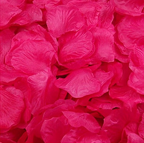 Magik 1000~5000 Pcs Silk Flower Rose Petals Wedding Party Pasty Tabel Decorations, Various Choices (1000, Hot Pink)