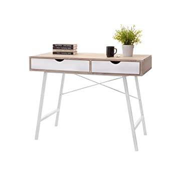 laun scandinavian desk minimalist table small desk 100cm white