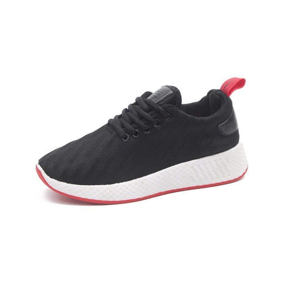 SED Scarpe sportive da donna 'S', stringate in pizzo, jogging, scarpe con fondo piatto per studenti,39 Eu,Nero 39 Eu